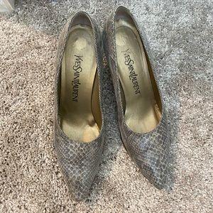 SAINT LAURENT vintage snakeskin heels